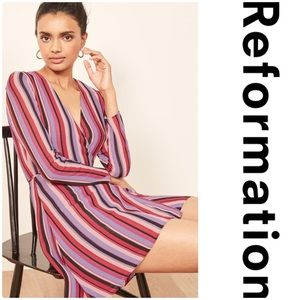 Reformation Gjelina Wrap Style Minidress